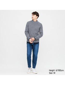 Men Middle Gauge Knit High Neck Jumper by Uniqlo