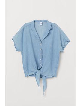 Jeansbluse Zum Binden by H&M