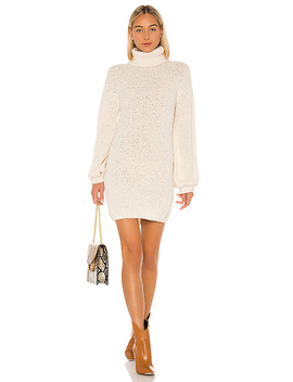 Diamond Sweater Dress In Ivory by Tularosa