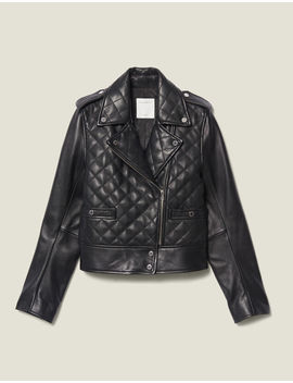 Quilted Leather Jacket by Sandro Paris