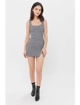 Uo Kate Houndstooth Bodycon Mini Dress by Urban Outfitters