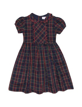Checked Cotton Dress by Rachel Riley