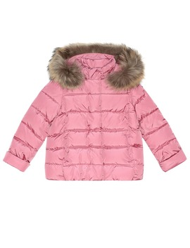 Fur Trimmed Quilted Jacket by Il Gufo