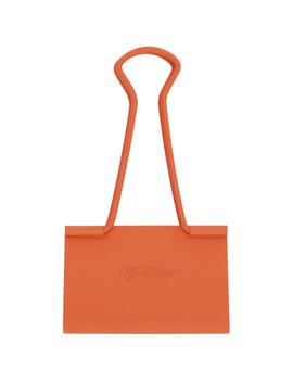 Orange Binder Clip Keychain by Off White