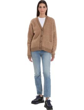 Acne Studios Rives Mohair Cardigan In Brown Wool by Acne Studios