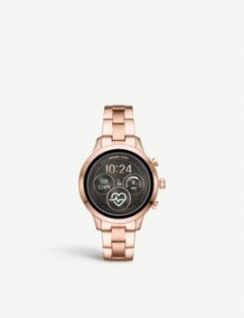Mkt5054 Runway Rose Gold Plated Stainless Steel Smartwatch Gift Set by Michael Kors