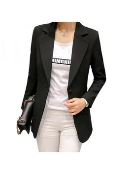 Fymall Womens Slim Basic Suit Formal Blazer Office Business Tops Outwear by Fymall