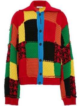 Cardigan Med Patchwork Og Colourblocking by Jw Anderson