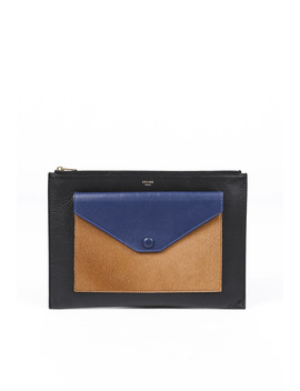 Tricolor Envelope Clutch by Celine
