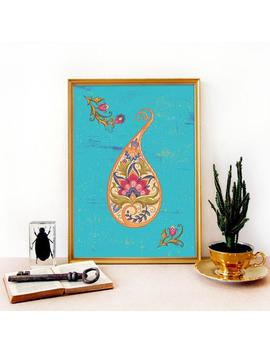 The Paisley Garden Persian, Mughal Style Art Print by Etsy