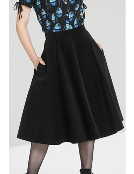 Jefferson Black Corduroy Gothic Skirt By Hell Bunny by Hell Bunny