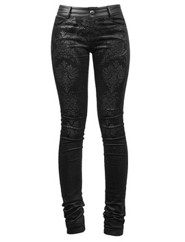 Black Damask Trousers By Punk Rave by Punk Rave