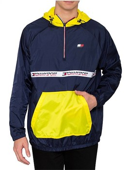 Windbreaker With Tape Detail by Tommy Hilfiger