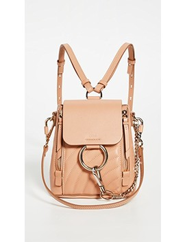 Chloe Beige Leather Faye Mini Backpack by What Goes Around Comes Around