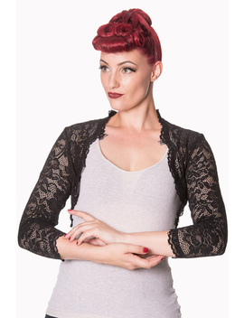 Feeling Rosy Black Lace Bolero By Banned by Banned