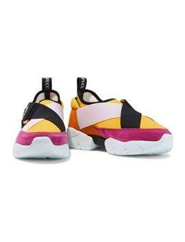 Color Block Suede And Neoprene Sneakers by Emilio Pucci