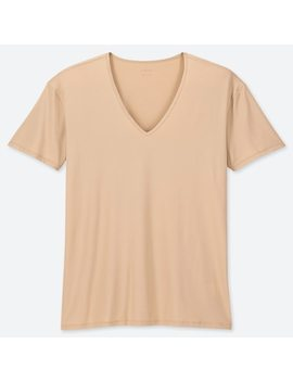 Men Airism V Neck Short Sleeved T Shirt (20) by Uniqlo