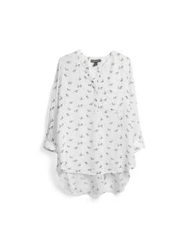 White Pattern Tunic Top by Primark