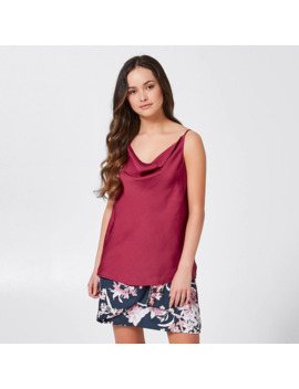 Dannii Minogue Petites Cowl Neck Cami   Red Bud by Target