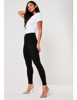 Petite Black Vice High Waisted Skinny Jeans by Missguided
