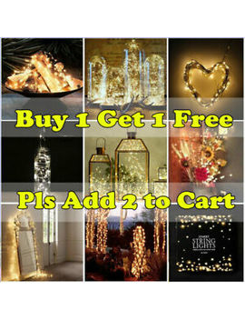 Waterproof Battery Powered Fairy String Lights Outdoor Xmas Wedding 2 M 20 Led by Ebay Seller
