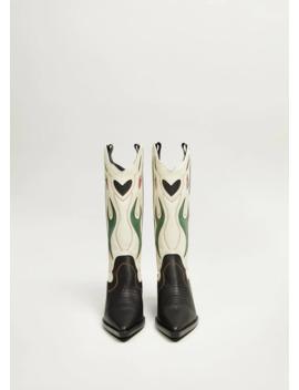 Stivali Pelle Cowboy by Mango