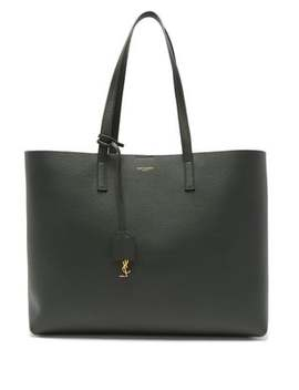 Shopping Bag Leather Tote Bag by Saint Laurent