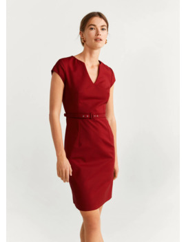"""<Font Style=""""Vertical Align: Inherit;""""><Font Style=""""Vertical Align: Inherit;"""">Pencil Belt Dress</Font></Font> by Mango"""