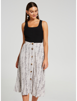 Take Me Everywhere Midi Skirt by Portmans