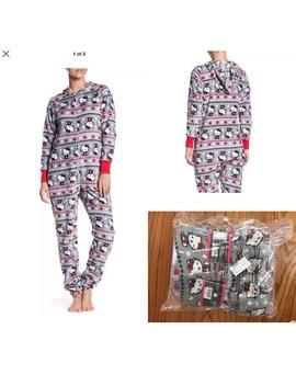 Hello Kitty Christmas Holiday Plush Hooded Pajama Nwt/New by Poshmark