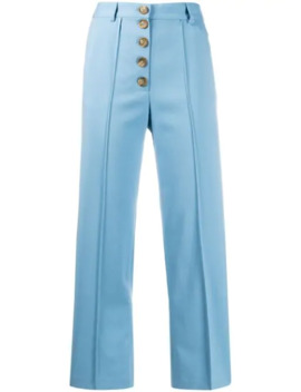 Buttoned Straight Leg Trousers by Each X Other