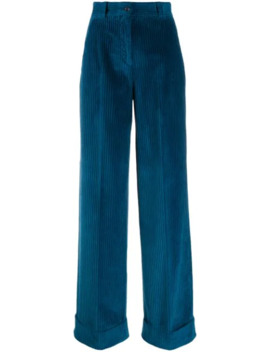 High Waisted Corduroy Trousers by Pt01