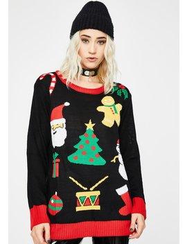 Wonderful Year Holiday Sweater by Dolls Kill