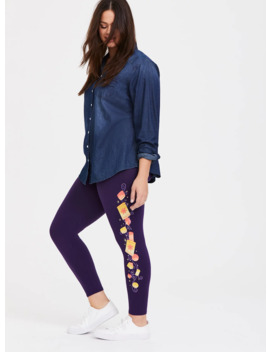 Disney Tangled Lantern Dark Purple Crop Legging by Torrid