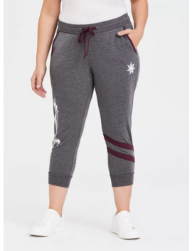 Disney Tangled Tower Grey Crop Active Jogger by Torrid