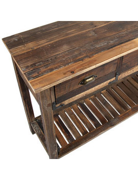 Distressed Wood Sofa Table by Hobby Lobby