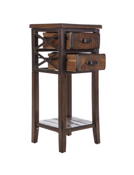 Antique Brown Criss Cross Side Table by Hobby Lobby