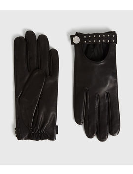 Stud Driver Leather Gloves by Allsaints