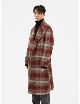 Mattia Military Robe Coat Awa193u Red Check by Andersson Bell For Men