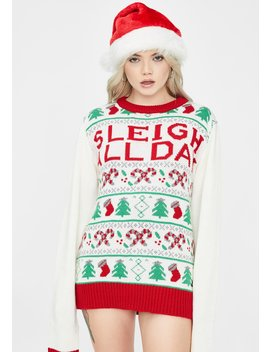 Sleigh All Day Christmas Sweater by American Stitch