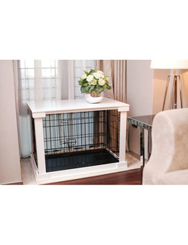 Cage With Crate Cover, White, Medium by Merry Products