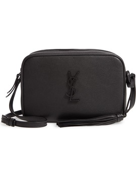 Lou Leather Camera Bag by Saint Laurent