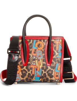Mini Paloma Loubielo Print Calfskin Leather Satchel by Christian Louboutin