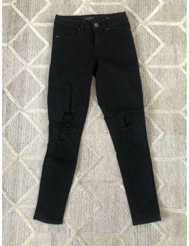 Jeanswest Ripped Black Jeans Size 6 by Jeanswest