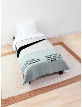 Off White Sneaker Hypebeast Fanmade Artwork Comforter by Karan Singh