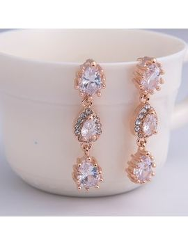 Hime   Rhinestone Segment Drop Earrings by Hime