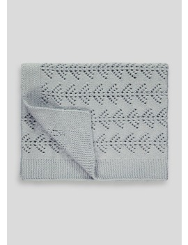 Sparkle Knit Baby Blanket by Matalan