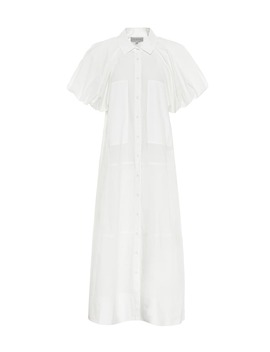 Elsie Puff Sleeve Cotton Maxi Dress by Lee Mathews