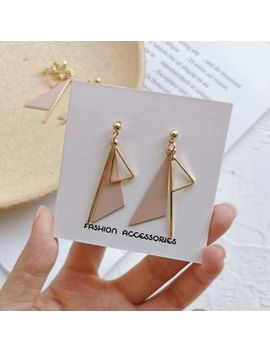 Yambo   Triangle Drop Earring / Ear Clip by Yambo