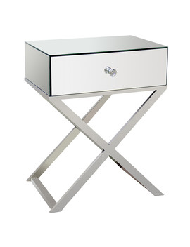 Cross Legged Mirrored Side Table by The Range